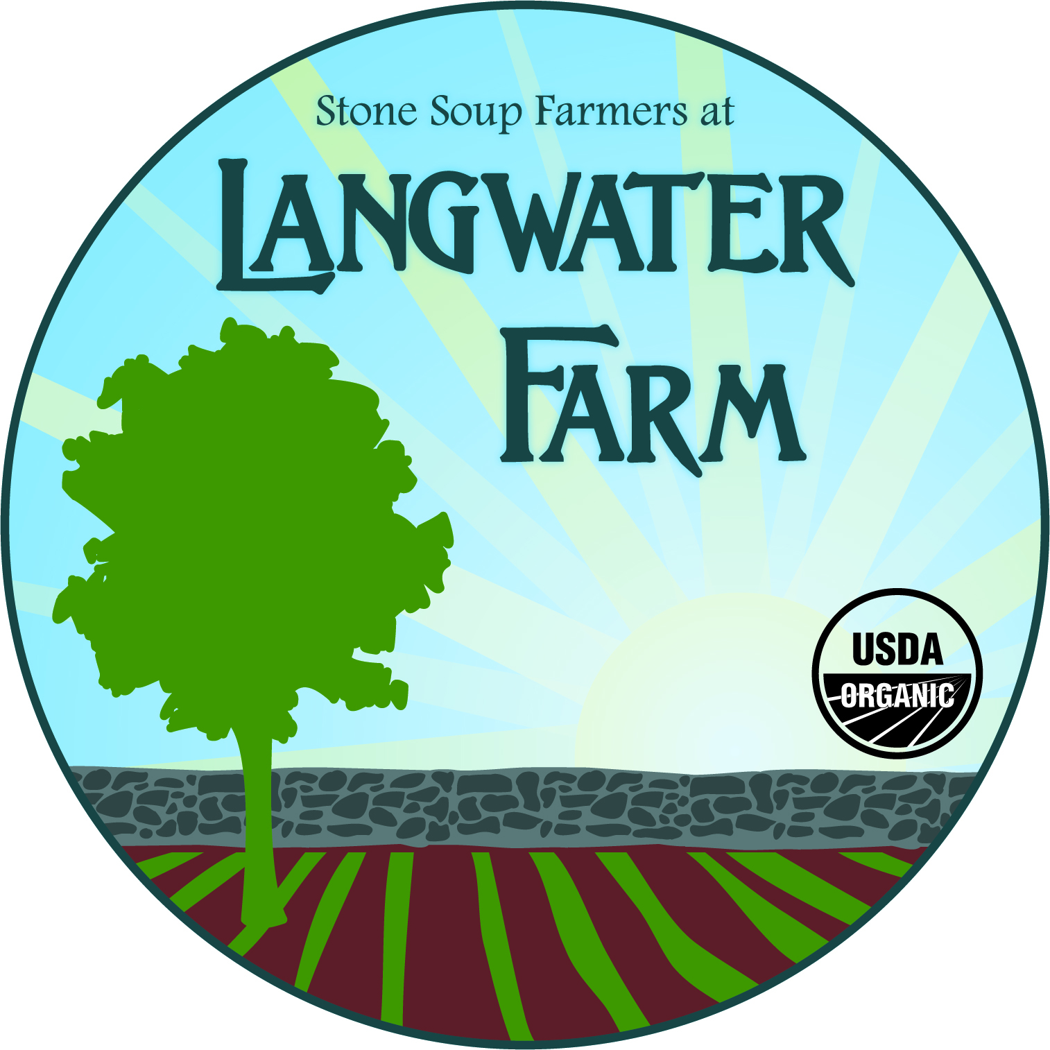 logo for Langwater Farm